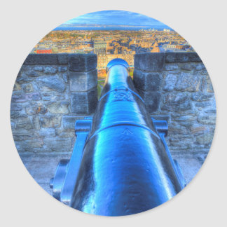 Edinburgh Castle Cannon Classic Round Sticker