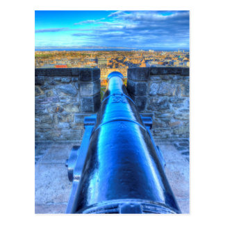 Edinburgh Castle Cannon Postcard