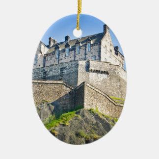 Edinburgh Castle Ceramic Oval Ornament