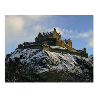 Edinburgh Castle covered in snow Postcard