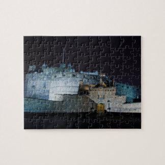 Edinburgh Castle entrance, at night, Edinburgh Puzzles