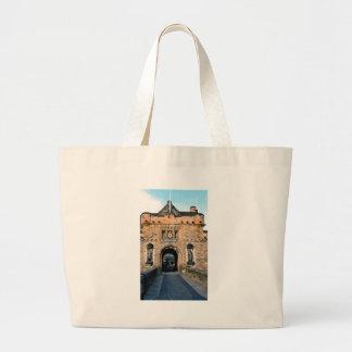 Edinburgh Castle entrance Large Tote Bag
