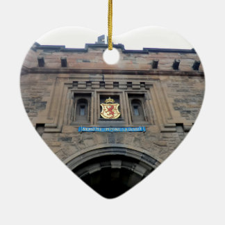Edinburgh Castle Gatehouse Ceramic Heart Ornament