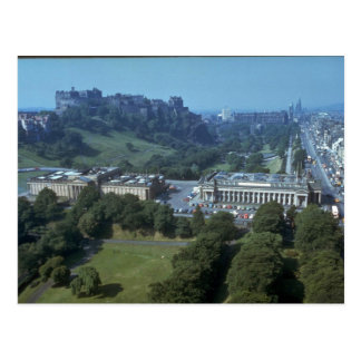 Edinburgh Castle in distance, Scotland Postcard
