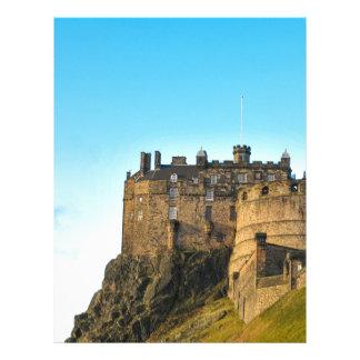 Edinburgh Castle Personalized Letterhead