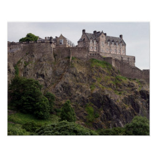 edinburgh castle rock poster