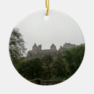 Edinburgh Castle Round Ceramic Ornament