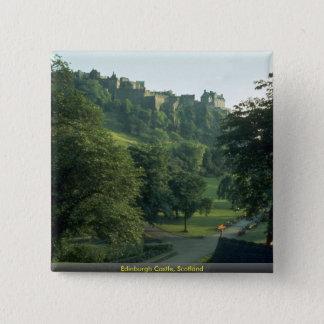 Edinburgh Castle, Scotland 2 Inch Square Button