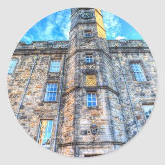 Edinburgh Castle Scotland Classic Round Sticker
