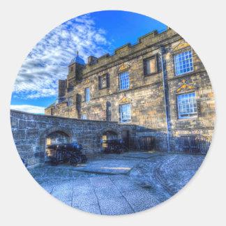 Edinburgh Castle Scotland Classic Round Sticker