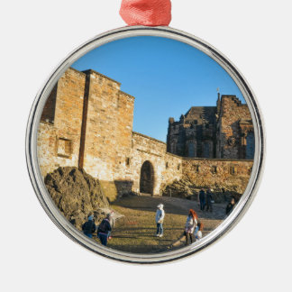 Edinburgh Castle Silver-Colored Round Ornament