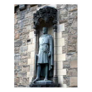 edinburgh castle statue postcard