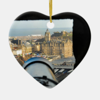 Edinburgh Ceramic Heart Ornament