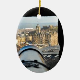 Edinburgh Ceramic Oval Ornament