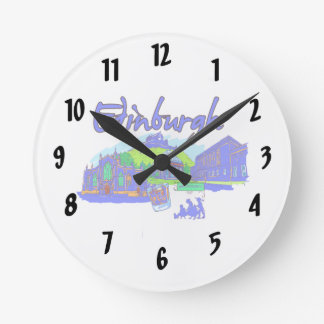 edinburgh city blue travel vacation image.png wall clock