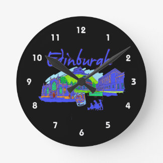 edinburgh city blue travel vacation image.png wallclocks