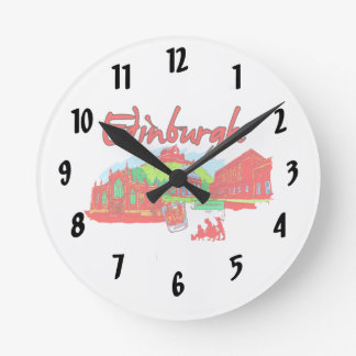 edinburgh city red travel vacation image.png wallclocks