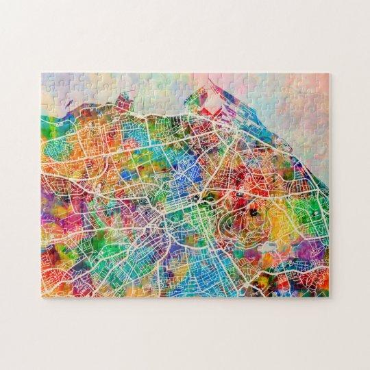Edinburgh City Street Map Jigsaw Puzzle