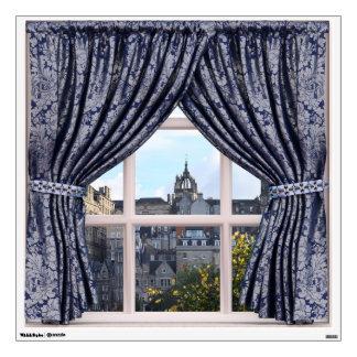 Edinburgh Cityscape - Fake Window View Wall Sticker