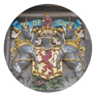 Edinburgh coat of arms, Scotland Dinner Plate