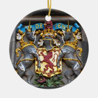 Edinburgh coat of arms, Scotland Round Ceramic Ornament