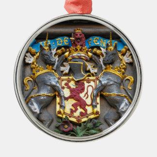 Edinburgh coat of arms, Scotland Silver-Colored Round Ornament