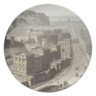 Edinburgh, from Calton Hill, from 'A Voyage Around Plates