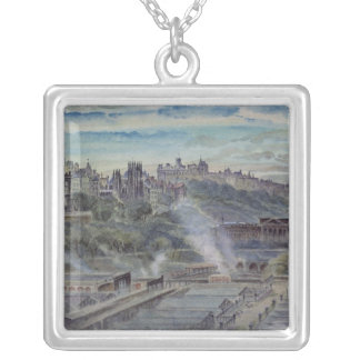Edinburgh from near St. Anthony's Chapel Silver Plated Necklace