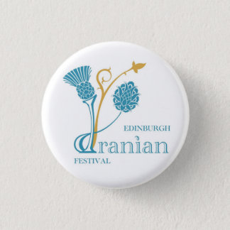Edinburgh Iranian Festival Badge - Logo White 1 Inch Round Button