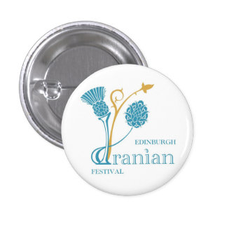 Edinburgh Iranian Festival Badge - Logo White 1 Inch Round Button