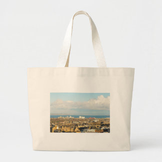 Edinburgh panorama large tote bag