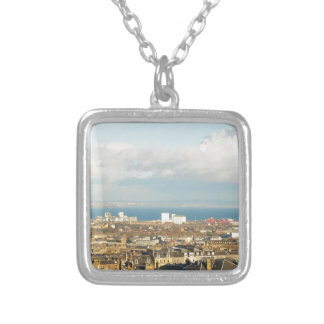Edinburgh panorama silver plated necklace