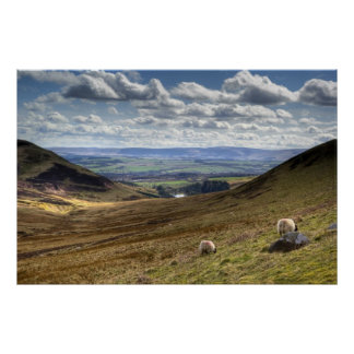 Edinburgh Pentland Hill View Poster