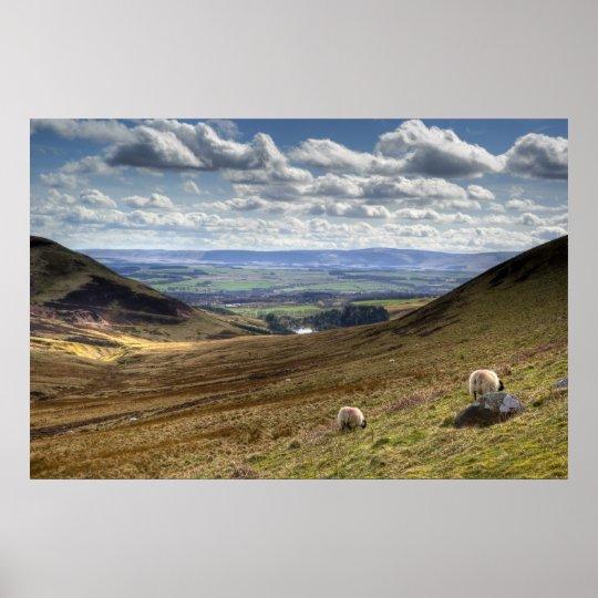 Edinburgh Pentland Hill View Poster
