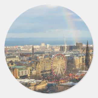 Edinburgh Round Sticker