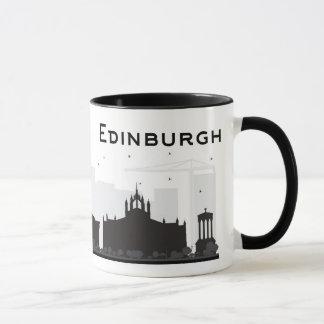 Edinburgh Scotland | Black and White Skyline Mug