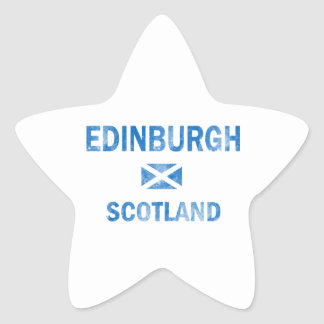 Edinburgh Scotland Designs Star Sticker
