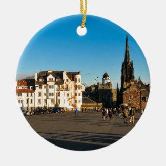 Edinburgh, Scotland Round Ceramic Ornament