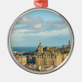 Edinburgh, Scotland Silver-Colored Round Ornament