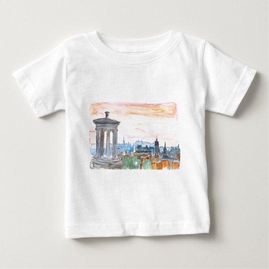 Edinburgh Scotland Skyline at Dusk Baby T-Shirt