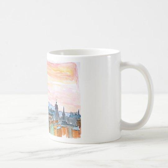 Edinburgh Scotland Skyline at Dusk Coffee Mug