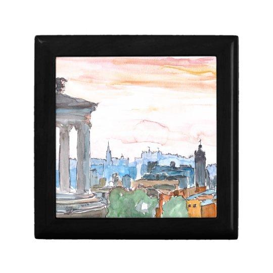 Edinburgh Scotland Skyline at Dusk Gift Box