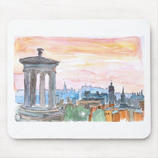 Edinburgh Scotland Skyline at Dusk Mouse Pad