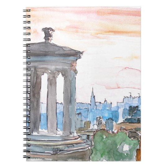 Edinburgh Scotland Skyline at Dusk Notebook