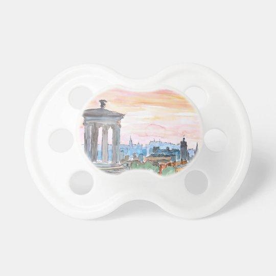 Edinburgh Scotland Skyline at Dusk Pacifier