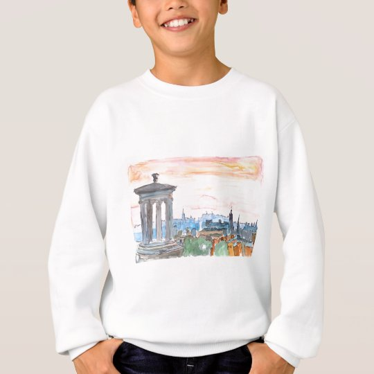 Edinburgh Scotland Skyline at Dusk Sweatshirt