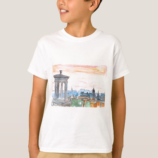 Edinburgh Scotland Skyline at Dusk T-Shirt
