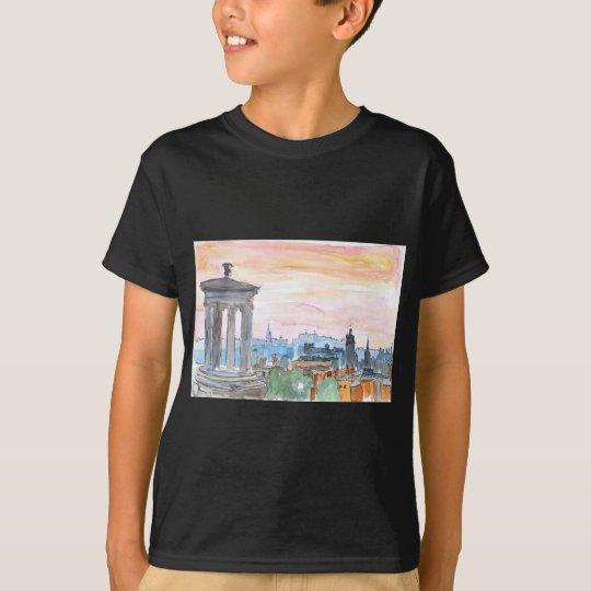 Edinburgh Scotland Skyline at Dusk T-Shirt