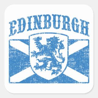 Edinburgh Scotland Square Sticker
