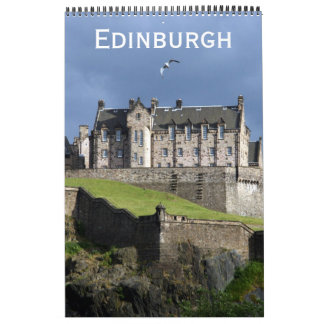 edinburgh scotland wall calendar